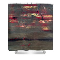 Abstract America   Shower Curtain by Antonio Ortiz