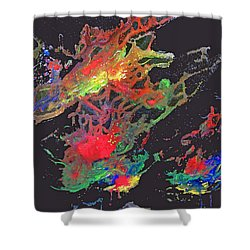 Abstract Andromeda Shower Curtain