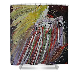 Abstract Angel Shower Curtain