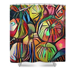 Abstract Apples Shower Curtain