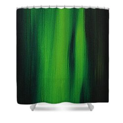 Abstract Art Colorful Original Painting Winter Passion - Green By Madart Shower Curtain by Megan Duncanson