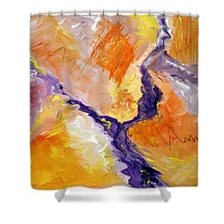 Abstract Art - Fire River Shower Curtain