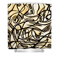 Abstract Art Gold 2 Shower Curtain