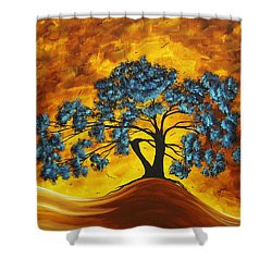 Abstract Art Original Landscape Painting Dreaming In Color By Madartmadart Shower Curtain by Megan Duncanson