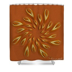 Shower Curtain featuring the digital art Abstract Art - Sunflower By Rgiada by Giada Rossi