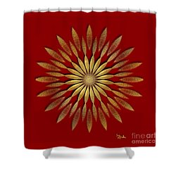 Shower Curtain featuring the digital art Abstract Art - Sunflower2 By Rgiada by Giada Rossi