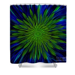 Abstract Art - Sunflower3 By Rgiada Shower Curtain by Giada Rossi