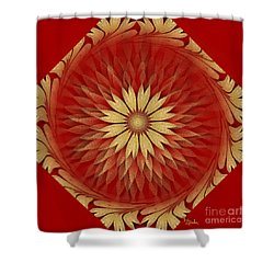 Abstract Art - Sunflower4 By Rgiada Shower Curtain by Giada Rossi