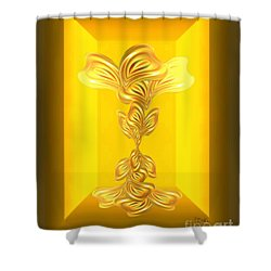 Shower Curtain featuring the digital art Abstract Art - The Gratitude Plant By Rgiada by Giada Rossi