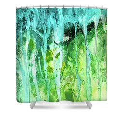 Abstract Art Waterfall Shower Curtain