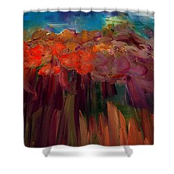 Abstract Autumn Shower Curtain by Lisa Kaiser