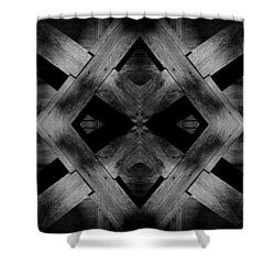 Shower Curtain featuring the photograph Abstract Barn Wood by Chris Berry