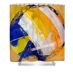 Abstract Beach Volleyball Shower Curtain by David G Paul