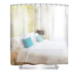 Shower Curtain featuring the photograph Abstract Bedroom by Atiketta Sangasaeng