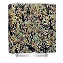 Abstract Blossoms Shower Curtain