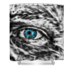 Shower Curtain featuring the photograph Abstract Blue Eye by Scott Carruthers