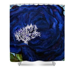Abstract Blue Shower Curtain by Lil Taylor