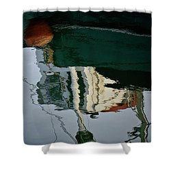 Abstract Boat Reflection II Shower Curtain