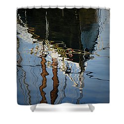 Abstract Boat Reflection IIi Shower Curtain