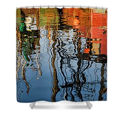 Abstract Boat Reflections Iv Shower Curtain