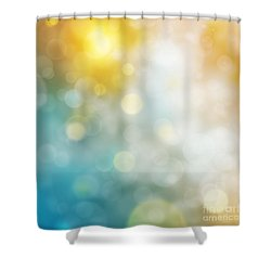 Abstract Bokeh Shower Curtain by Atiketta Sangasaeng