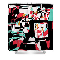 Shower Curtain featuring the digital art Abstract Boxes by Jessica Wright