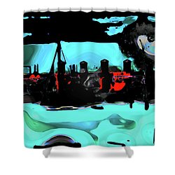 Abstract Bridge Of Lions Shower Curtain