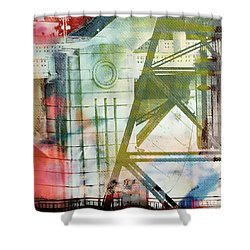 Abstract Bridge With Color Shower Curtain