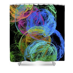 Shower Curtain featuring the digital art Abstract Bubbles by Andee Design