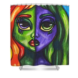 Abstract Butterfly Fairy Girl Shower Curtain