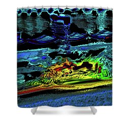 Abstract Carriage Ride Shower Curtain