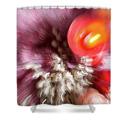 Shower Curtain featuring the photograph Abstract Christmas 4 by Rebecca Cozart