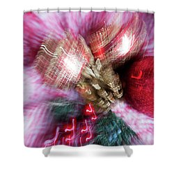 Shower Curtain featuring the photograph Abstract Christmas 5 by Rebecca Cozart