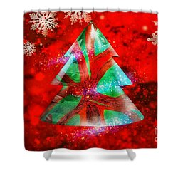Abstract Christmas Bright Shower Curtain