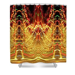 Abstract Christmas Lights #175 Shower Curtain by Barbara Tristan