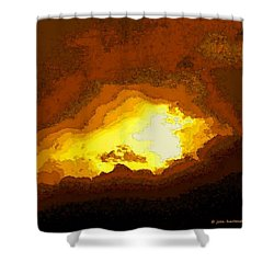 Abstract Cloud Shower Curtain