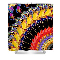 Shower Curtain featuring the digital art Abstract Collage Of Colors by Phil Perkins