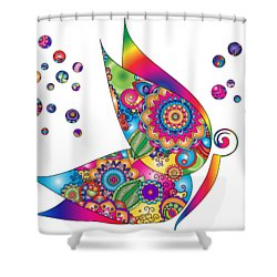 Abstract Colorful Butterfly Shower Curtain