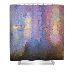 Abstract Columns Shower Curtain