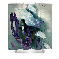 Abstract Construction Shower Curtain by Sarah Loft