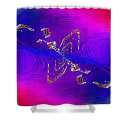 Shower Curtain featuring the digital art Abstract Cubed 350 by Tim Allen