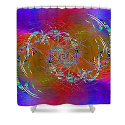 Shower Curtain featuring the digital art Abstract Cubed 351 by Tim Allen