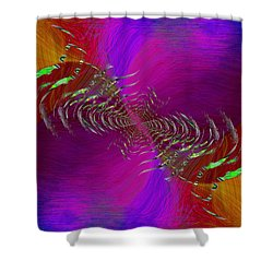 Shower Curtain featuring the digital art Abstract Cubed 352 by Tim Allen