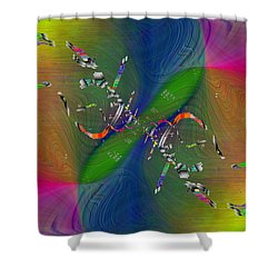 Shower Curtain featuring the digital art Abstract Cubed 356 by Tim Allen