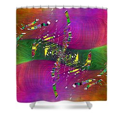 Shower Curtain featuring the digital art Abstract Cubed 357 by Tim Allen