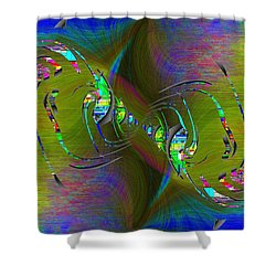 Shower Curtain featuring the digital art Abstract Cubed 361 by Tim Allen