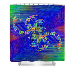 Shower Curtain featuring the digital art Abstract Cubed 362 by Tim Allen