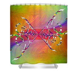 Shower Curtain featuring the digital art Abstract Cubed 364 by Tim Allen
