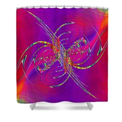 Shower Curtain featuring the digital art Abstract Cubed 365 by Tim Allen