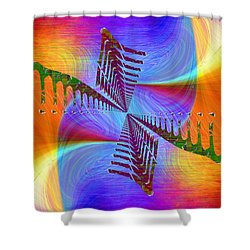 Shower Curtain featuring the digital art Abstract Cubed 372 by Tim Allen